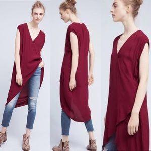 NWT Anthro Holding Horses asymmetric wrap dress M